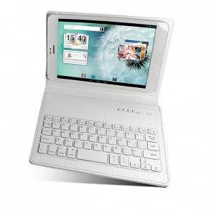 "JT-TKB008 Mecer Universal 8"" Folio-Type Protective Cover with Bluetooth Keyboard - White"