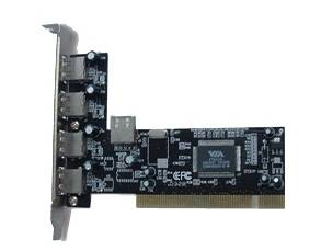 BW0204014 Mecer PCI 4 Port USB 2.0 + 1 Port Internal USB2.0 Card